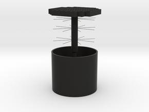 360°Translucent Jewelry Box in Black Premium Versatile Plastic