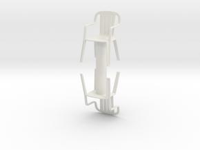 Plastic Chair (x2) 1/35 in White Natural Versatile Plastic