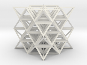 64 Tetrahedron made from 8 Stellated Octahedrons  in White Natural Versatile Plastic