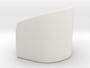 Rounded Chair 1/35 in White Natural Versatile Plastic