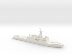 1/600 Scale Huntington Ingalls NS Cutter in White Natural Versatile Plastic