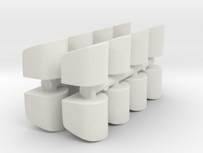 Rounded Chair (x16) 1/160 in White Natural Versatile Plastic