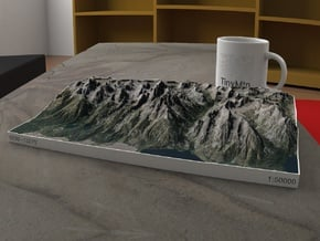 Grand Tetons, Wyoming, USA, 1:50000 in Full Color Sandstone