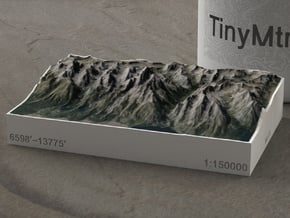 Grand Tetons, Wyoming, USA, 1:150000 Explorer in Full Color Sandstone