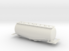 Whale Belly Tank Car - SCL - Sscale in White Natural Versatile Plastic