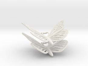 Monarch Earrings in White Natural Versatile Plastic