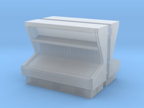 Vegetable Open Display Fridge 01. 1:87 Scale (HO) in Smooth Fine Detail Plastic