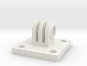 ActionCam 40mm mount plate in White Natural Versatile Plastic