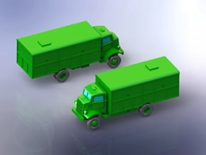 Autocar U-8144 Truck (Van Body) 1/160 in Smooth Fine Detail Plastic
