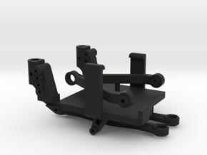 SCX24 Low CG ESC/RX Mount + Shock Towers in Black Natural Versatile Plastic