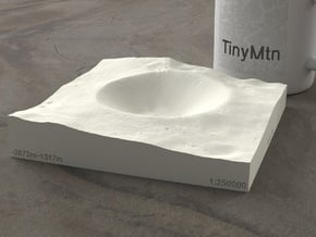 Shackleton Crater, The Moon, 1:250000 in Natural Sandstone