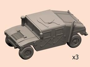 6mm HMMWV cars in Smoothest Fine Detail Plastic