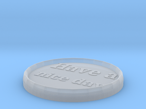 Styling coaster in Smooth Fine Detail Plastic
