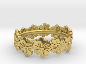 Flowers All Around in Polished Brass: 6.25 / 52.125