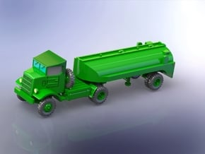 Autocar U-7144-T w. 2000 gal. Tanktrailer 1/220 in Smooth Fine Detail Plastic
