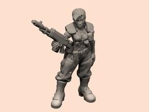 54mm SciFi Female sergeant in Smooth Fine Detail Plastic
