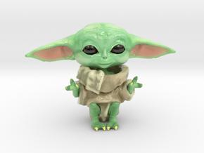 Baby Yoda: Dagobaby in Glossy Full Color Sandstone