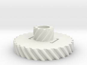 GearRot1 in White Natural Versatile Plastic