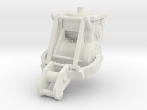 1/25th logging bulldozer winch 3 in White Natural Versatile Plastic