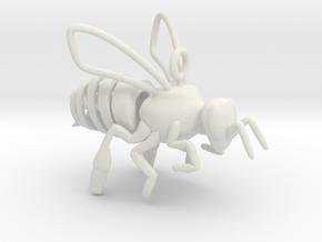 Bee Dreams in White Natural Versatile Plastic
