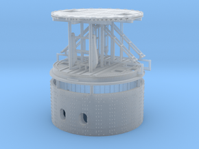 1/192 USS Monitor turret in Smooth Fine Detail Plastic