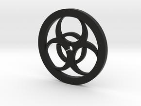 Bio-Hazard Coaster in Black Natural Versatile Plastic