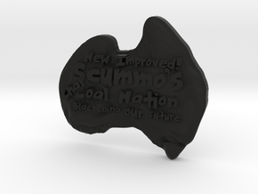 """""""New Improved"""" Scummo's Charcoal Nation Magnetic B in Black Natural Versatile Plastic"""