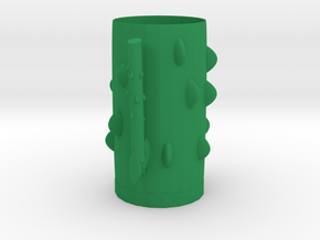 Cactus styling cup in Green Processed Versatile Plastic