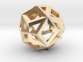 GMTRX lawal v2 skeletal superimposed dodecahedron in 14k Gold Plated Brass