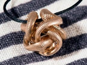 Yayene Pendant in Natural Bronze