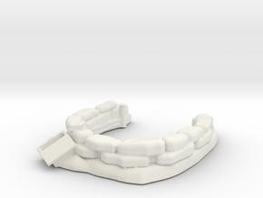 Sandbag Emplacement 1/100 in White Natural Versatile Plastic