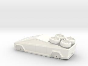 Cybertruck V1 in White Processed Versatile Plastic