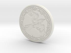 Raven animal totem token ( customized) in White Natural Versatile Plastic