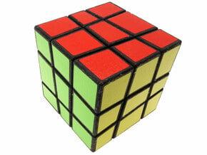 Sloppy Cube in White Natural Versatile Plastic