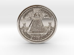 New Order of the Ages Barter & Trade FAUX Coin in Platinum