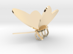 Butterfly stay in 14k Gold Plated Brass: Small