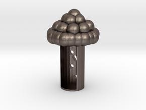 Life tree in Polished Bronzed-Silver Steel: Medium
