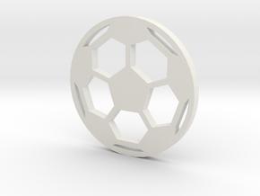 Soccer Ball - flat- filled in White Natural Versatile Plastic