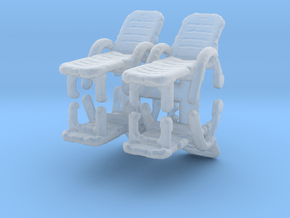 Deck Chair (x4) 1/100 in Smooth Fine Detail Plastic