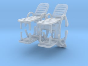 Deck Chair (x4) 1/72 in Smooth Fine Detail Plastic