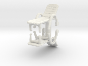 Deck Chair (x2) 1/56 in White Natural Versatile Plastic