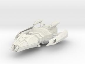 Hirogen warship in White Natural Versatile Plastic