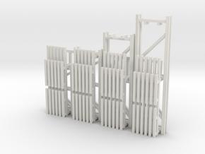 42X144-120-96-72 X 96 Beam Kit 1-87 HO Scale in White Natural Versatile Plastic