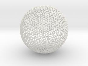 Goldberg Sphere in White Natural Versatile Plastic