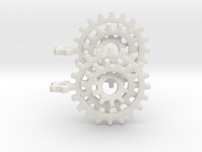 Gearrings in White Natural Versatile Plastic