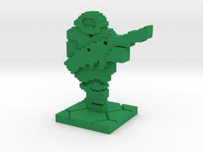 PixFig: Doom - Space Marine in Green Processed Versatile Plastic
