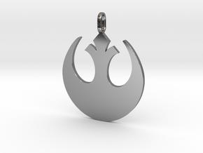 Star wars rebel badge pendant in Fine Detail Polished Silver