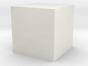 cube 1 cm in Clothing in White Natural Versatile Plastic: 1.75 / -