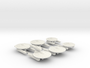 3788 Scale Federation Frigate Coll. with Corvettes in White Natural Versatile Plastic