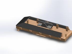 S USMRR ARMORED FLATCAR in White Natural Versatile Plastic